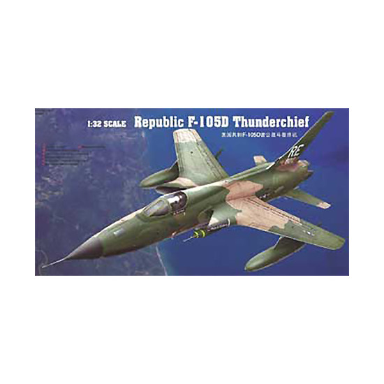 Trumpeter 02201 Сборная модель самолета Republic F-105D Thunderchief (1:32)