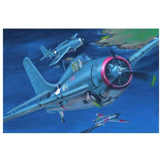 "Trumpeter 02225 Сборная модель самолета Grumman F4F-3 ""Wildcat"" (Late) (1:32)"