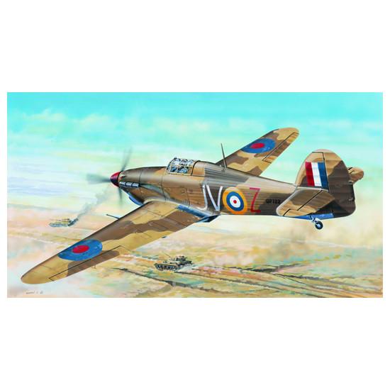 Trumpeter 02417 Сборная модель самолета Hawker Hurricane II D Trop (1:24)