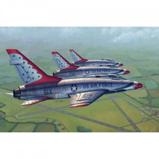 Trumpeter 02822 Сборная модель самолета F-100D in Thunderbirds livery (1:48)