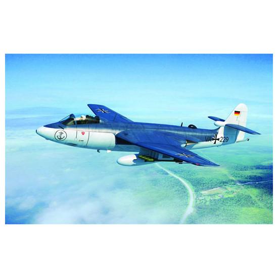 Trumpeter 02827 Сборная модель самолета British Hawker Sea Hawk MK.100/101 (1:48)