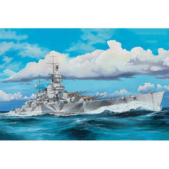 Trumpeter 05320 Сборная модель корабля Italian Navy Battleship RN Vittorio Veneto 1940 (1:350)