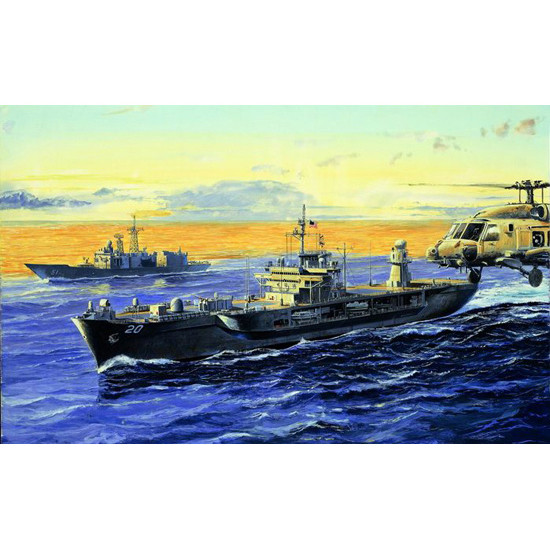 Trumpeter 05718 Сборная модель корабля USS MOUNT WHITNEY LCC-20 2004 (1:700)