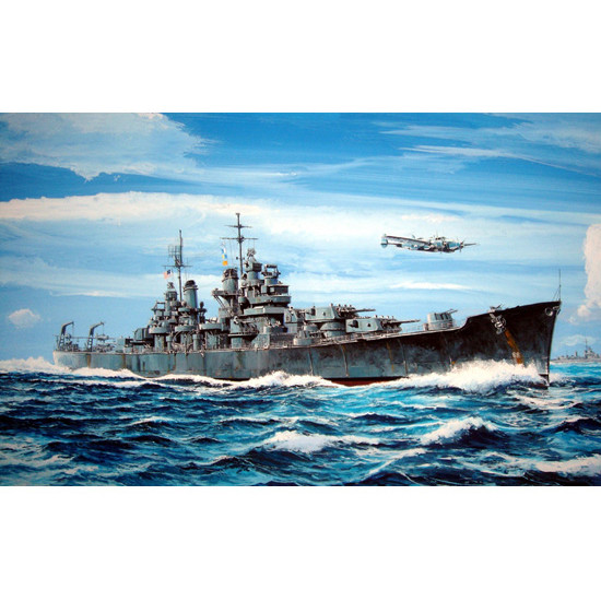 Trumpeter 05724 Сборная модель корабля USS BALTIMORE CA-68 1943 (1:700)