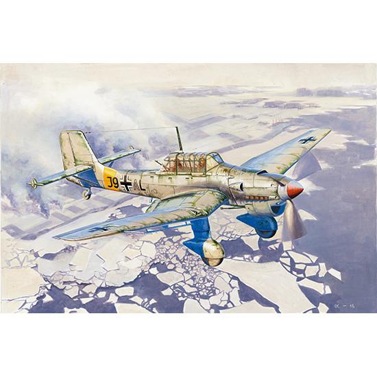 Trumpeter 02422 Сборная модель самолета Junkers Ju-87B-2/U4 Stuka (1:24)