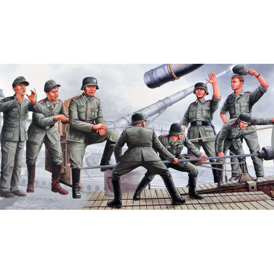 Trumpeter 00406 Фигурки German Leopold Gun Grews (1:35)
