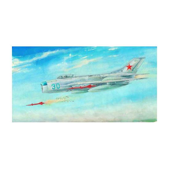 Trumpeter 02804 Сборная модель самолета Mikoyan-Gurevich MiG-19M Farmer E (1:48)